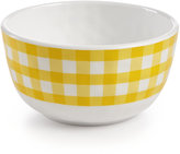 Certified International Frida Gingham Yellow Melamine Cereal Bowl
