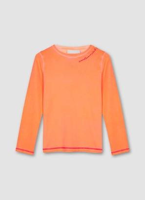 Mint Velvet Neon Orange Embroidery T-Shirt