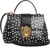 Dolce & Gabbana Lucia polka-dot print leather tote