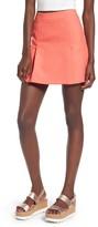 Topshop Women's Pleat Miniskirt
