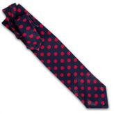 Thomas Pink Open Weave Silk Dot Woven Tie