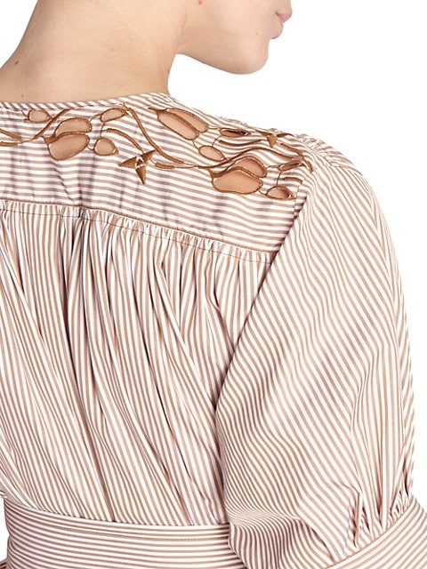 Thumbnail for your product : Chloé Striped Cotton Poplin Dress