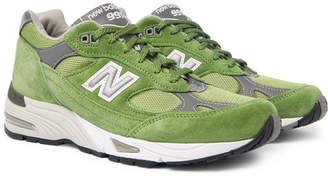 New Balance 991 Suede, Mesh And Leather Sneakers