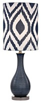Lazy Susan Navy Blue and Black Nickel Table Lamp