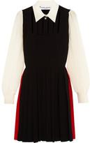 Sonia Rykiel Pleated cutout silk crepe de chine dress