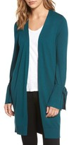 Halogen Women's Lightweight Tie Sleeve Cardigan