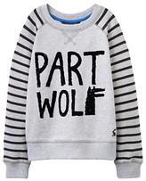 Joules Little Joule Boys' Part Wolf Sweatshirt, Grey