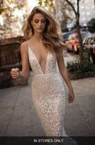 Women's Berta Spaghetti Strap Beaded Mesh Mermaid Gown