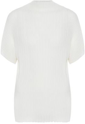 The Row Karolina plisse top