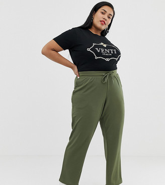 Junarose wideleg trousers in green