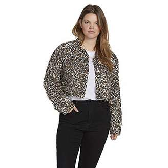 Volcom Plus Size Women's Super Stoney Cropped Boxy Denim Jacket