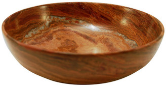 "Fossil Designs By Marble Crafters, Inc. 10"" Laurus Collection Stone Bowl"