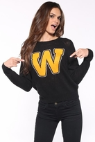 Wildfox Couture Roller Disco Mini 70's Sweater in Clean Black