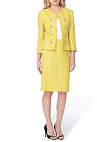 Tahari ASL Boucle Double-Breasted Skirt Suit