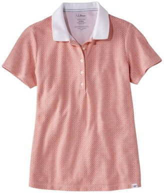 L.L. Bean Women's Premium Double L Shaped Polo, Short-Sleeve Print