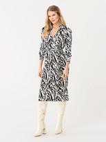 Diane von Furstenberg Power Silk-Jersey Midi Faux-Wrap Dress