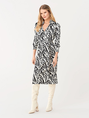 Diane von Furstenberg Power Silk-Jersey Midi Faux-Wrap Dress