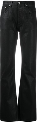 Helmut Lang Pre Owned 1990s Pre-Owned Coated Bootcut Jeans
