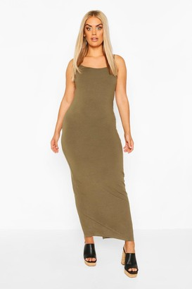 boohoo Plus strappy Basic Maxi Dress