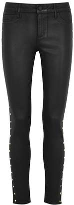 Articles of Society Sarah Studded Coated Skinny Jeans