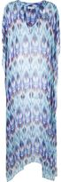 BRIGITTE v-neck printed beach dress