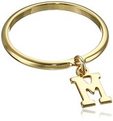 """a.v. max Dangle Initial """"M"""" Ring, Size 7"""