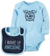 Carter's 2-Pc. Mom's Alarm Clock Cotton Bodysuit & Bib Set, Baby Boys (0-24 months)