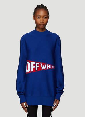Off-White Off White Varsity Flag Sweater in Blue