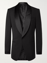 Thumbnail for your product : Tom Ford Slim-Fit Satin-Trimmed Stretch-Wool Tuxedo Jacket - Men - Black - IT 44