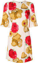 Dolce & Gabbana rose biscuit printed dress