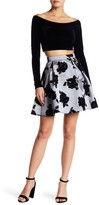 Jump Velvet Off-the-Shoulder Crop Top & Skirt Set