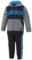 adidas Baby Boys Hooded Jacket and Jogger Pant Set