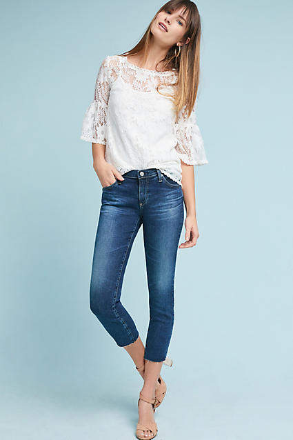 Anthropologie AG The Stilt Low-Rise Cigarette Cropped Jeans