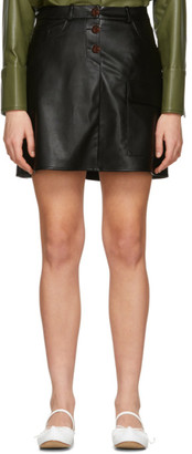Áeron SSENSE Exclusive Black Faux-Leather Thelma Skirt