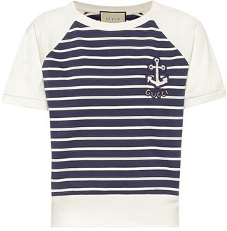 Gucci Striped cotton T-shirt