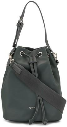 agnès b. Logo-Print Bucket Bag