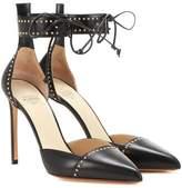 Francesco Russo Embellished leather pumps