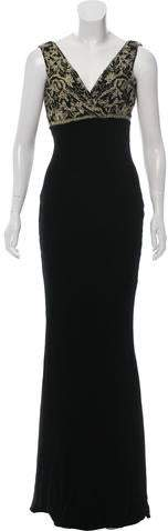 Ralph Lauren Black Label Embroidered Velvet Gown w/ Tags