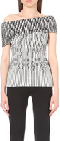 Roland Mouret Agard off-the-shoulder knitted top