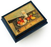 MusicBoxAttic Artistic Colbalt Blue Ercolano Music Jewelry Box Still Life By Ceazanne, Paul - All I Ask Of You - SWISS