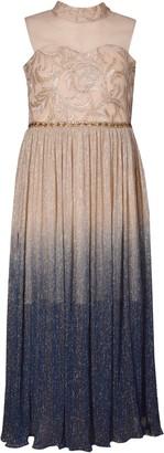 Iris & Ivy Metallic Ombre Mesh Gown