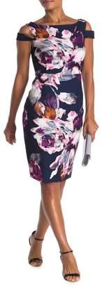 Trina Turk Adley Shoulder Cutout Floral Print Dress