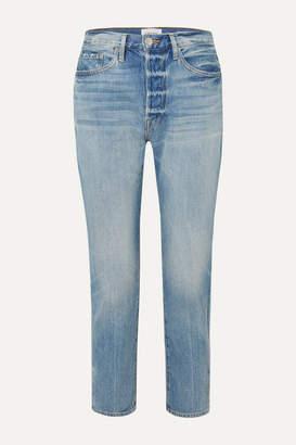 Frame Le Original High-rise Straight-leg Jeans - Light denim