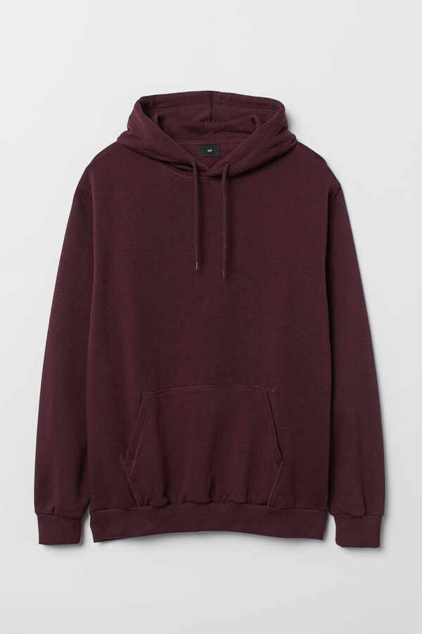 H&M Relaxed-fit Hoodie - Red