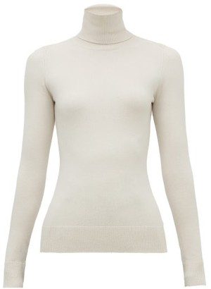 JoosTricot Peachskin Roll-neck Cotton-blend Sweater - Womens - Ivory