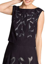 Nic+Zoe Plus Secret Garden Linen Blend Top