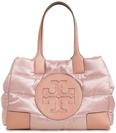Tory Burch ELLA MINI QUILTED NYLON LAME TOTE BAG