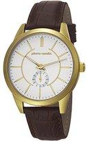 Pierre Cardin Men's & Women's Brown Leather Mineral Glass Watch pc106571f03
