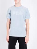 Fila Logo-embroidered cotton-blend T-shirt