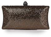 Kate Landry Social Metallic Glitter Box Clutch